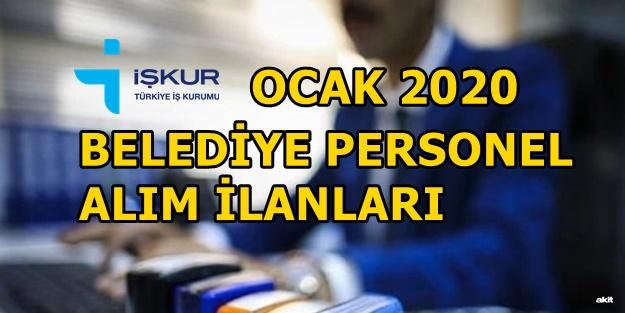 İŞKUR Ocak 2020 belediye iş ilanları | İŞKUR belediyeye personel alımı başvuru şartları