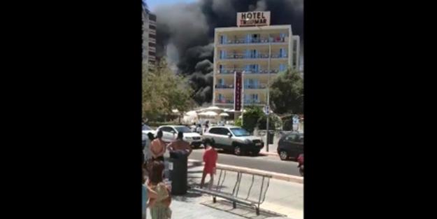 İspanya'da korkutan yangın! Çıkan dumanlar gökyüzünü sardı