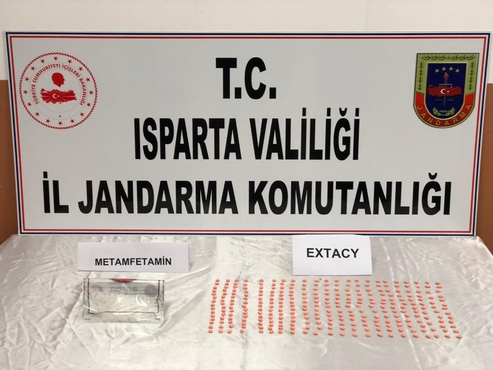 Isparta'da uyuşturucu hap ele geçirildi