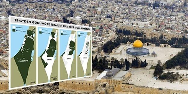 İsrail adım adım Filistin'i böyle işgal etmiş