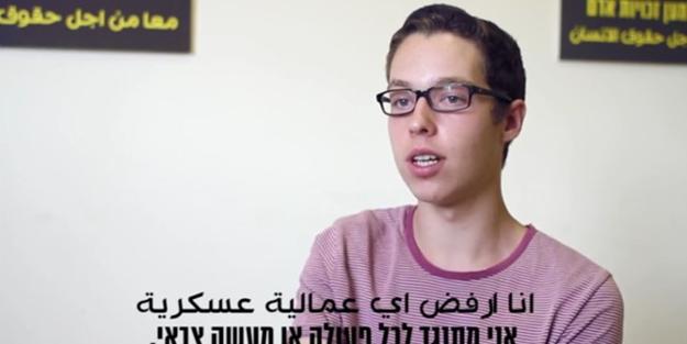 İsrail askeri olmayı reddettiği için...