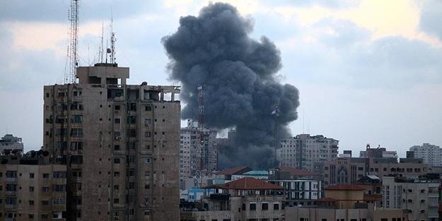 İsrail savaş uçakları Gazze'ye yine saldırdı!