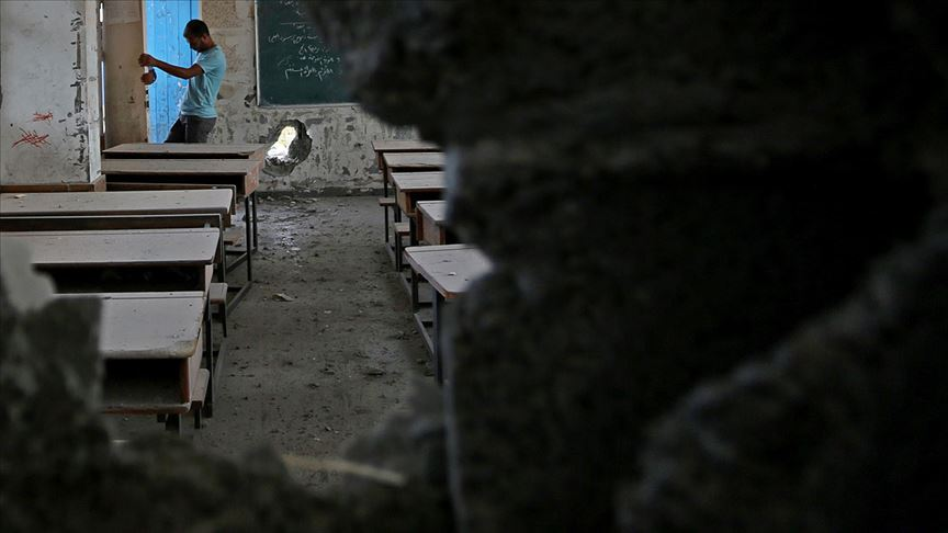 İsrail'den Gazze'deki bir okula füze saldırısı