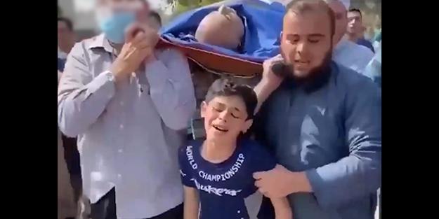 İsrail'in babasını katlettiği Filistinli çocuğun feryadı yürekleri dağladı