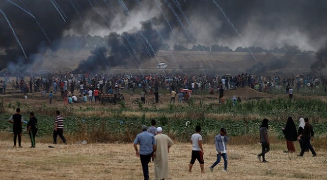 İsrail'in Gazze'deki katliamına bir tepki de Lübnan'dan