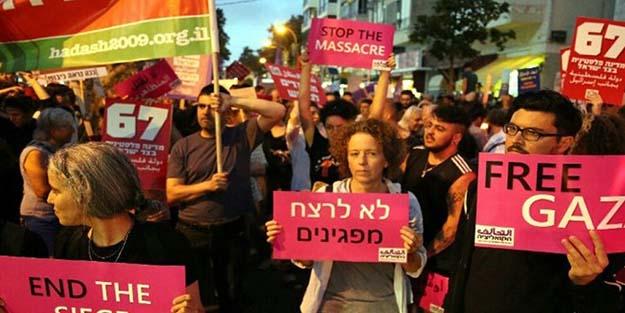 İsrailliler Tel'Aviv sokaklarında: Umudunu kaybetme Gazze