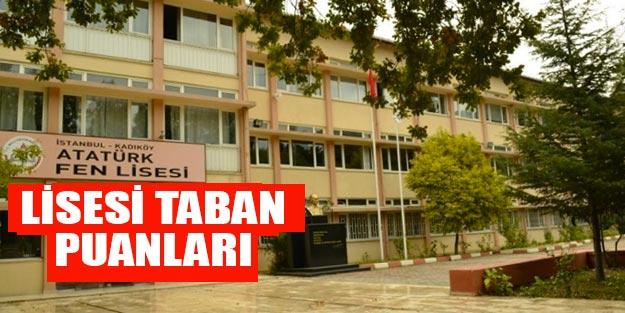 İstanbul Atatürk Fen Lisesi taban puanı 2019