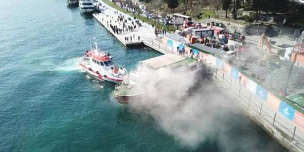 İstanbul Boğazı'nda korkutan yangın