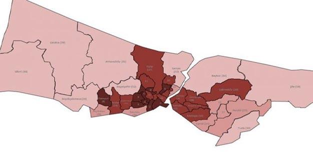 İstanbul ilçeleri koronavirüs vaka sayısı İstanbul'un hangi ilçesinde en çok korona riski var?