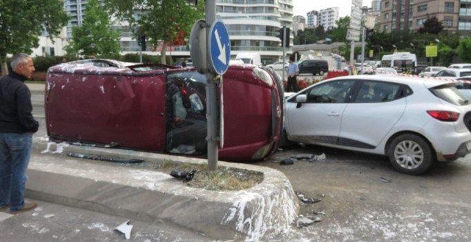 İstanbul Kartal'da trafik kazası: 6 yaralı