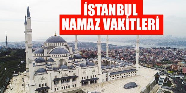İstanbul namaz vakitleri Diyanet İstanbul'da sabah öğlen ikindi akşam yatsı namazı saat kaçta?