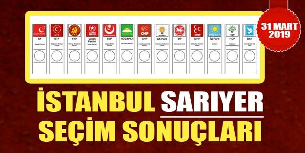 İstanbul Sarıyer yerel seçim sonuçları | Yerel seçim 2019 İstanbul ilçeleri seçim sonuçları