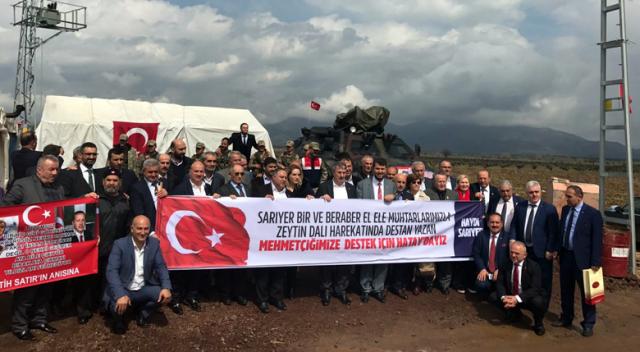 İSTANBUL SARIYER'DEN ZEYTİN DALI HAREKÂTI'NA DESTEK