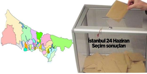 İstanbul seçim sonuçları 24 Haziran seçimleri AK Parti MHP Cumhur İttifakı CHP İYİ Parti Saadet Millet İttifakı HDP İstanbul oy oranları