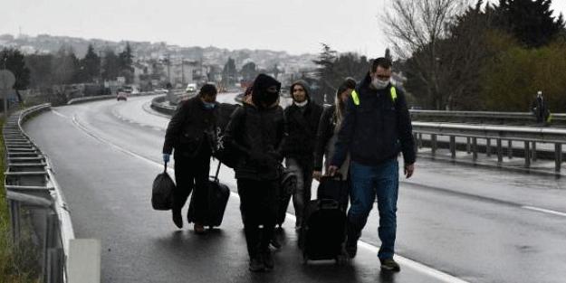 İstanbul sınırı kapatılınca yürüyerek girdiler