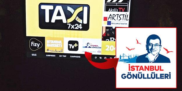 İstanbul taksilerinde CHP propagandası