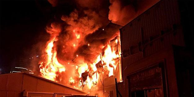 İşçilerin kaldığı konteynerde yangın! Mahsur kaldılar