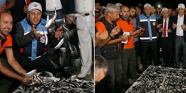 İstanbul Valili Yerlikaya, şafak vakti balıkçıları karşıladı