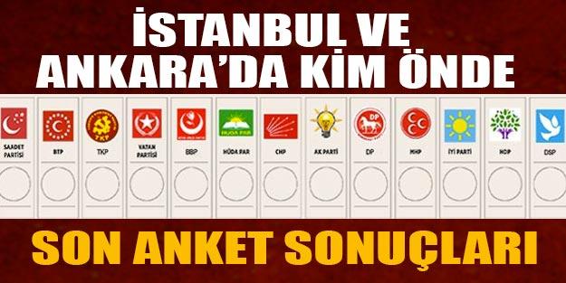 İstanbul ve Ankara'da kim önde? Ankara İstanbul son anket sonuçları