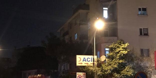 İstanbul'da 4 katlı binada çökme meydana geldi