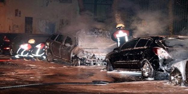 İstanbul'da 6 araç kundaklandı!