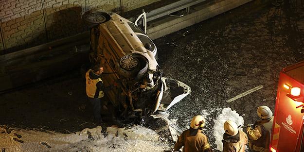 İstanbul'da alkollü sürücü dehşeti! 10 metre yükseklikten düştü