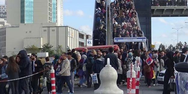 İstanbul'da duyan herkes oraya koştu! İnsan seli...