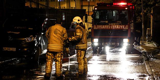 İstanbul'da gece vakti ekipleri hareketlendiren yangın