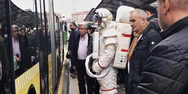 İstanbul'da astronot kıyafetli adam görülmüştü... Sebebi belli oldu!