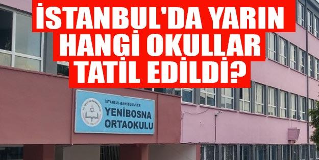 İstanbul'da yarın okullar tatil mi? 30 Eylül Pazartesi İstanbul'da tatil olan okullar hangileri?