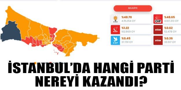 İstanbul'da hangi parti nereyi kazandı? İstanbul ilçe seçim sonuçları 2019