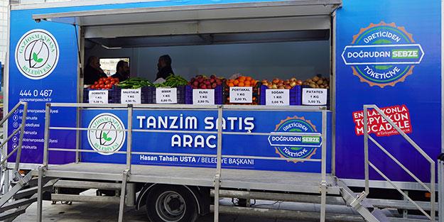 İstanbul'da ilk mobil tanzim satış noktası hizmete başladı
