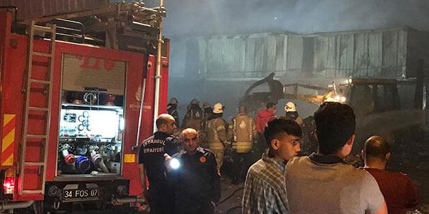 İstanbul'da katı atık toplama merkezinde korkutan yangın