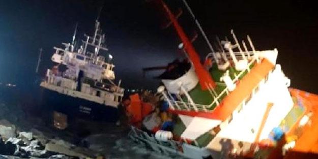 İstanbul'da korku dolu anlar! Süreklenen gemi başka bir gemiye çarptı
