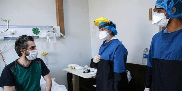 İstanbul'da koronavirüsü yenen hastalar odalarında görüntülendi
