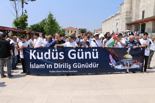 İstanbul'da Kudüs günü coşkusu