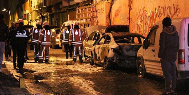 İstanbul'da neler oluyor? Çok sayıda aracın lastiği kesildi, otomobiller ateşe verildi