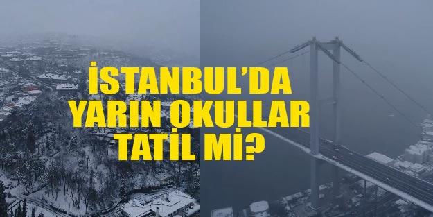 İstanbul'da okullar tatil mi 25 Şubat Pazartesi İstanbul valiliği twitter son dakika MEB