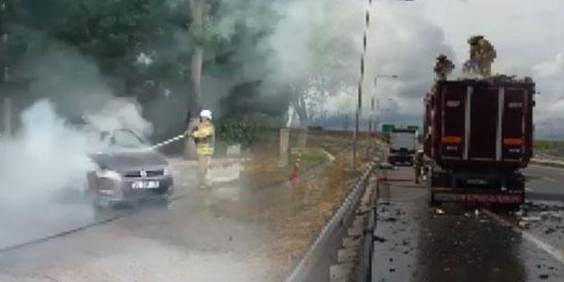 İstanbul'da 'sıcak' anlar! Bir ilçede otomobil, başka ilçede tır dorsesi yandı