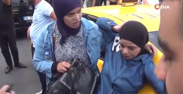 İstanbul'da taksici turiste çarptı