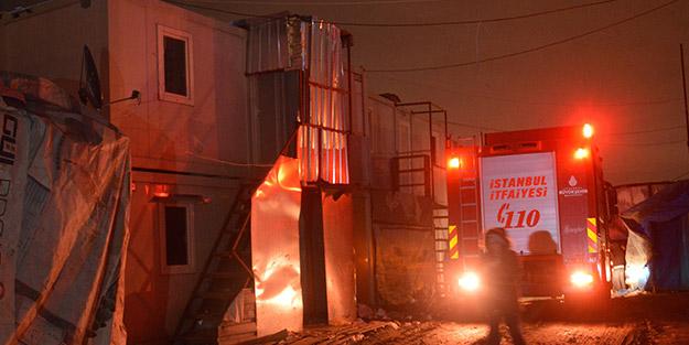 İstanbul'da yangın faciası! Arkadaşlarını uyaran işçi yanarak can verdi
