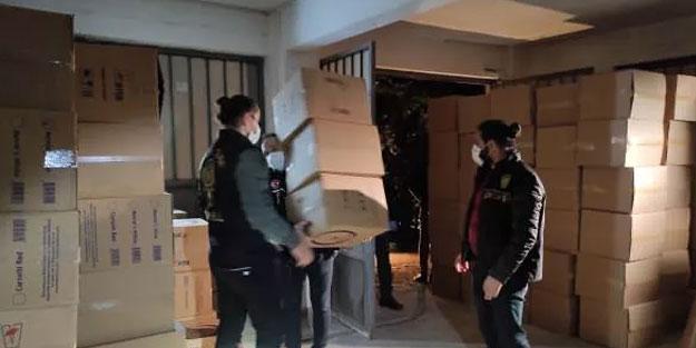 İstanbul'da yüzlerce kilo kaçak tütün ele geçirildi