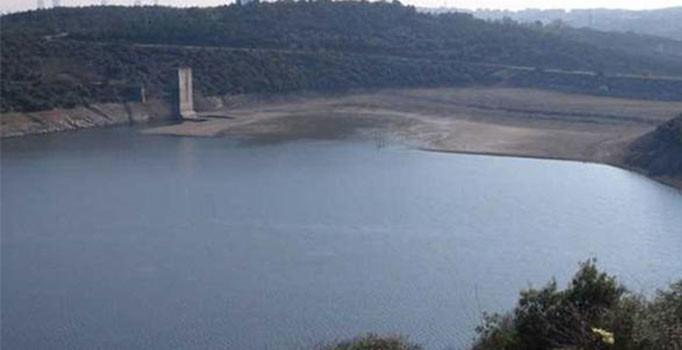 İstanbul'daki barajların doluluk oranı havadan kaydedildi