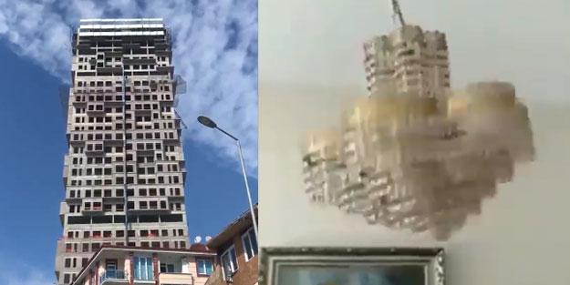 İstanbul'daki depremde korkutan görüntüler kamerada!