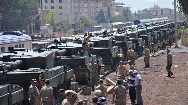 İstanbul'dan gönderilen tanklar Gaziantep'e ulaştı