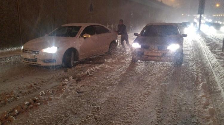 İstanbul'un ilçelerinde kar kalınlığı açıklandı!