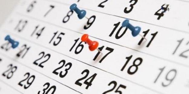 İşte 2018 yılı resmi tatil günleri