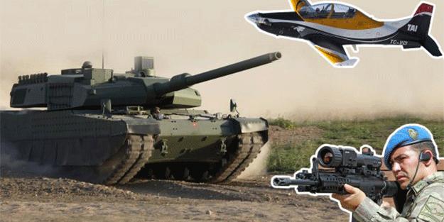 İşte Afrin'de teröristlere kan kusturan 20 yerli silah