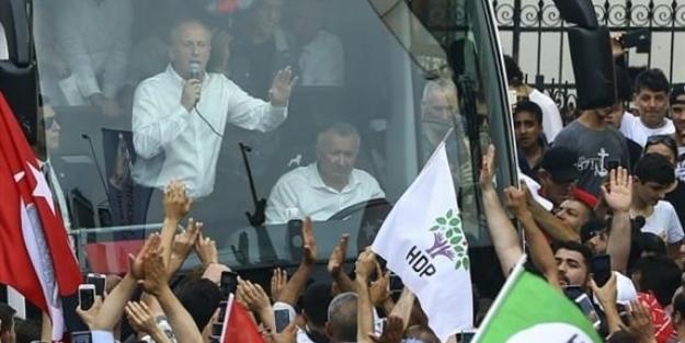 İşte kanıtı! İnce'nin mitinglerinde CHP'liden çok HDP'liler var