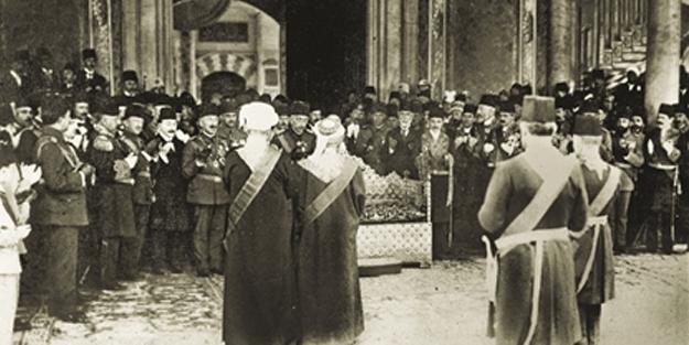 İşte Osmanlı'daki son tahta çıkış töreni